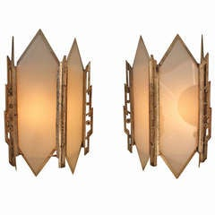 American Art Deco Wall Sconces