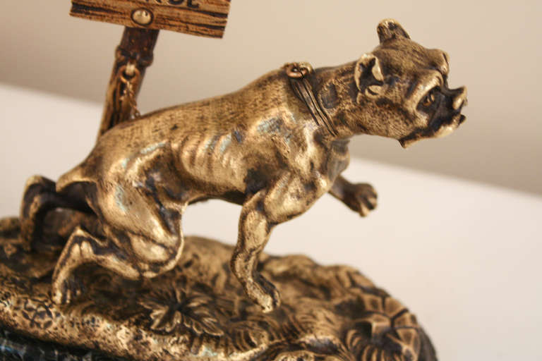 French Bronze Dog Statue 3