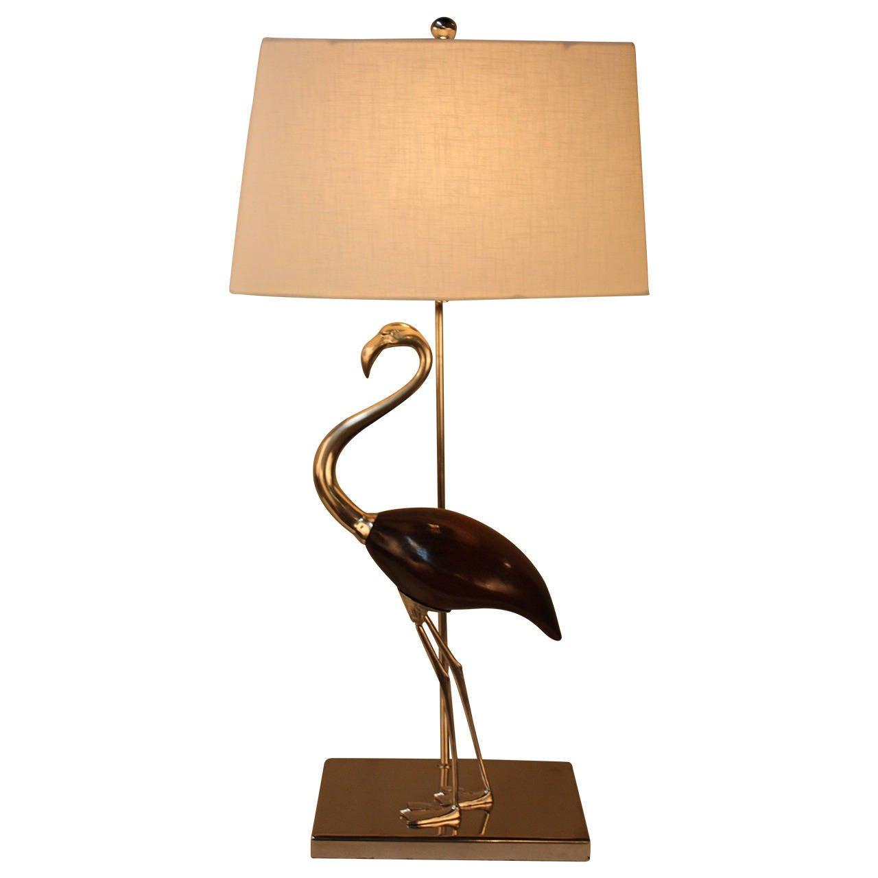 Mid Century Flamingo Table Lamp At 1stdibs
