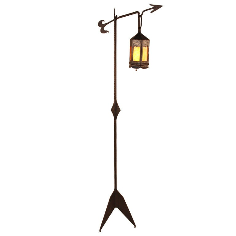 american arts and crafts floor lamp at 1stdibs. Black Bedroom Furniture Sets. Home Design Ideas