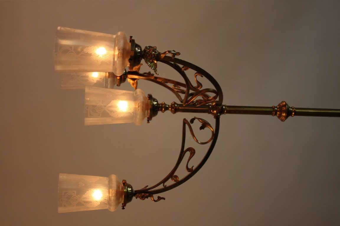 Progress Lighting Riverside Collection 4 Light Heirloom: Art Nouveau Chandelier At 1stdibs