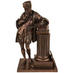 Bronze Sculpture of Leonardo da Vinci by Seiffer