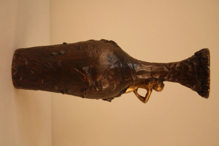 19th Century 19th c. Gilt Bronze Vase For Sale