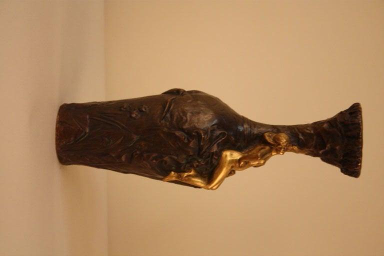 19th c. Gilt Bronze Vase For Sale 1