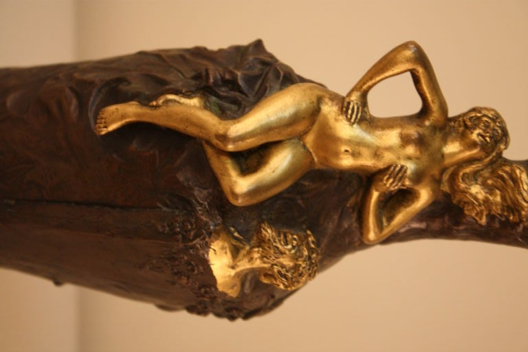 19th c. Gilt Bronze Vase For Sale 2