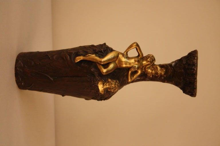 19th c. Gilt Bronze Vase For Sale 3