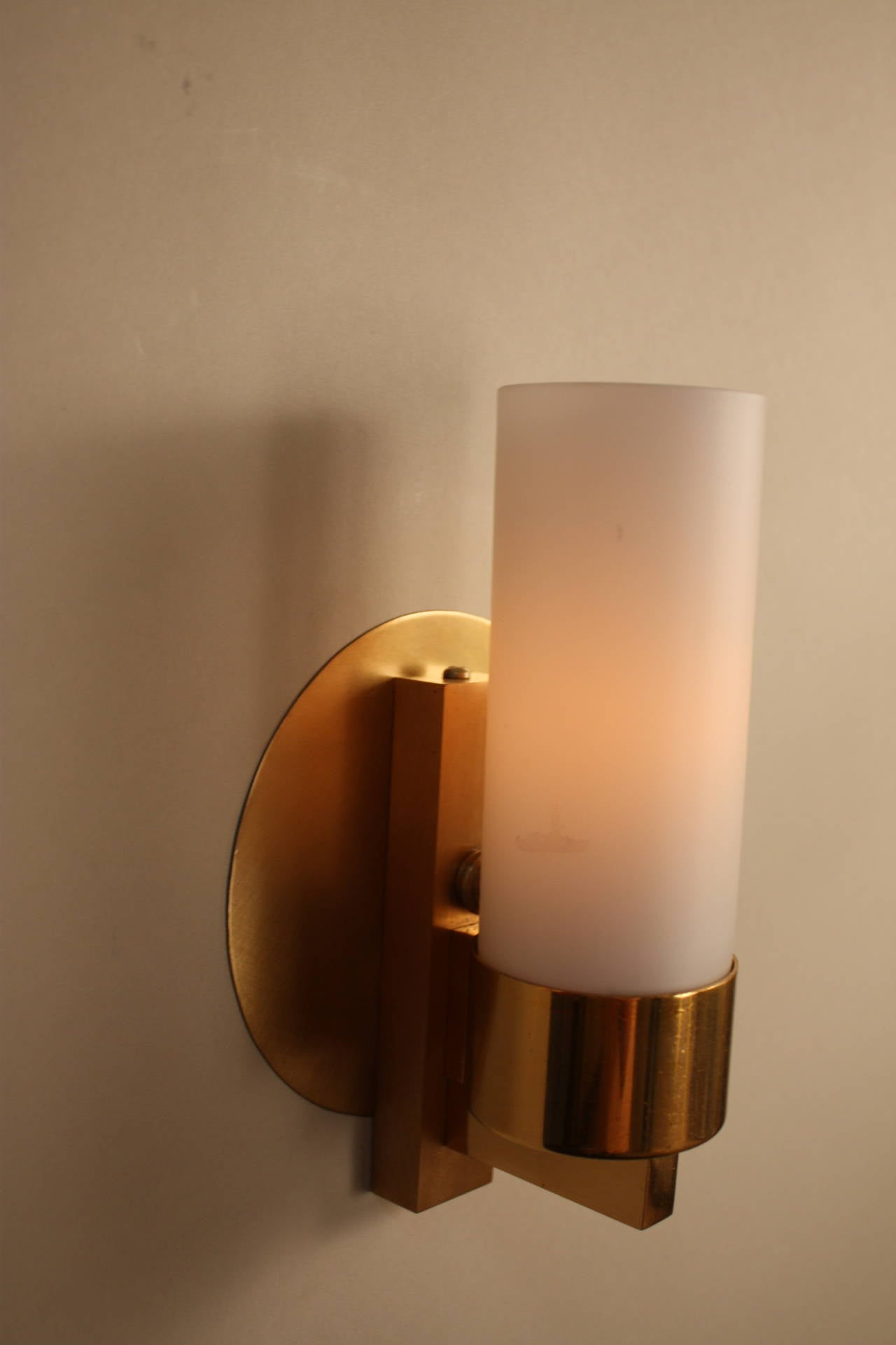 Pair of Modern Bronze Wall Sconces at 1stdibs