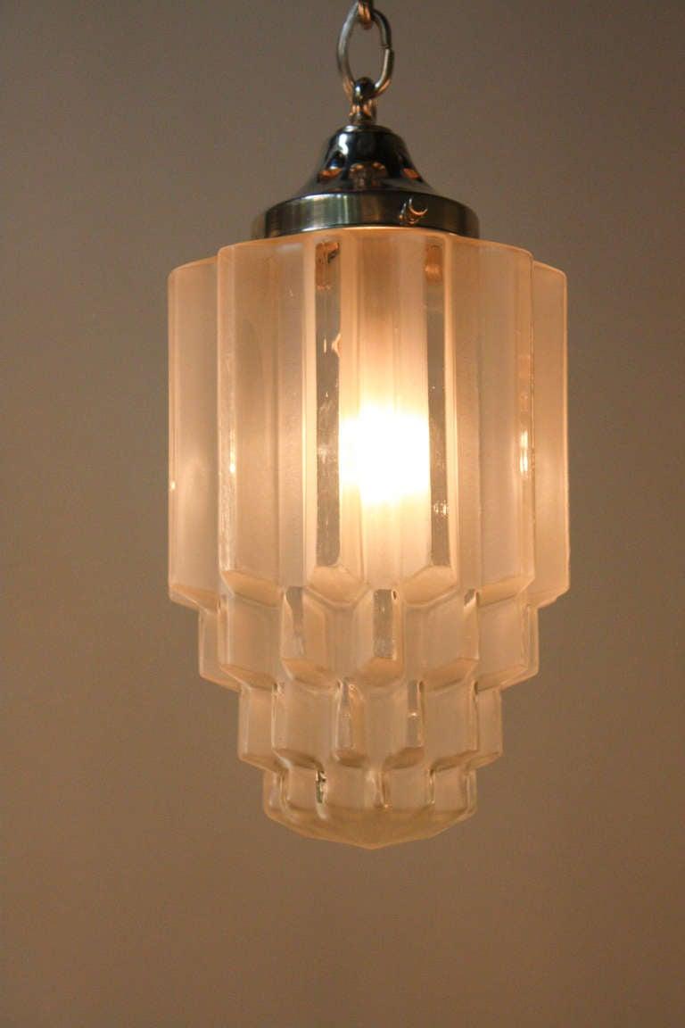Large 1930s Art Deco Pendant Light At 1stdibs
