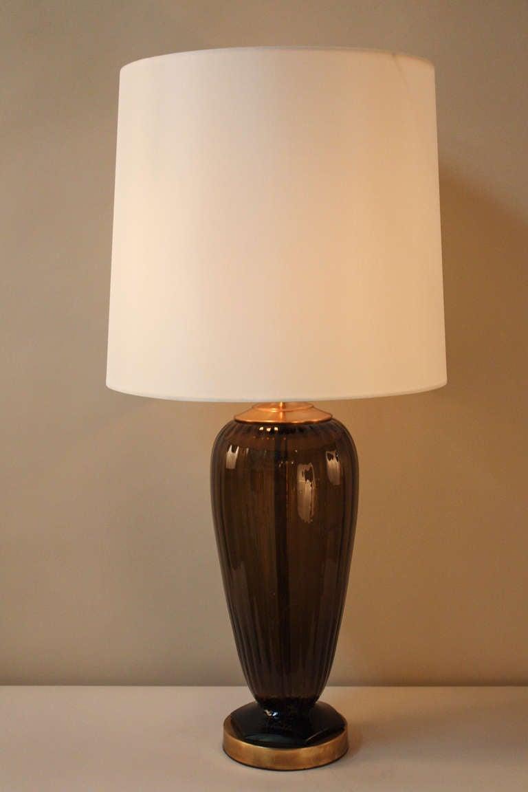 Blown glass table lamps - 1930s Blown Glass Table Lamp 2