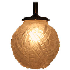 French Art Deco Pendant Light