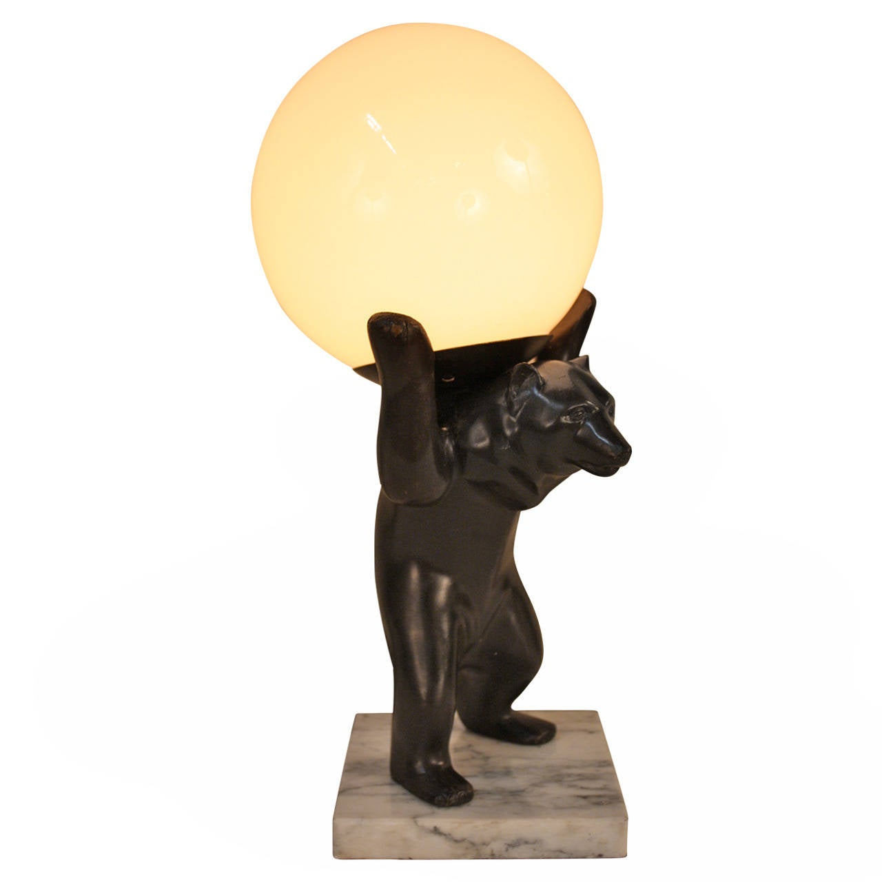 Bronze bear table lamps at 1stdibs bronze bear table lamps 1 geotapseo Choice Image