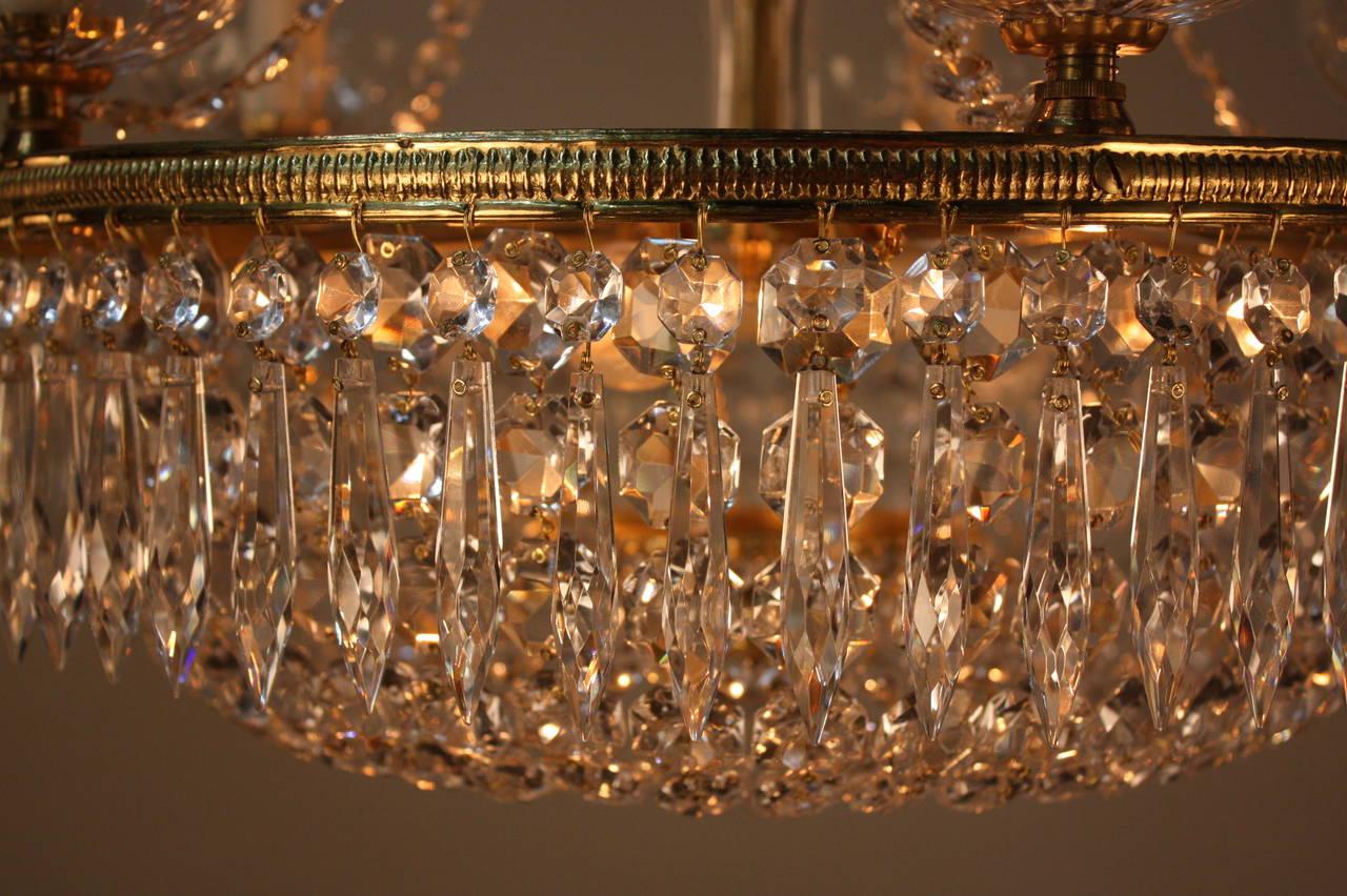 Set Of Three Mid Century Crystal Chandeliers At 1stdibs
