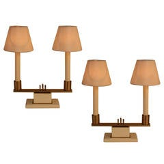 Pair of Modern Candelabra Lamps