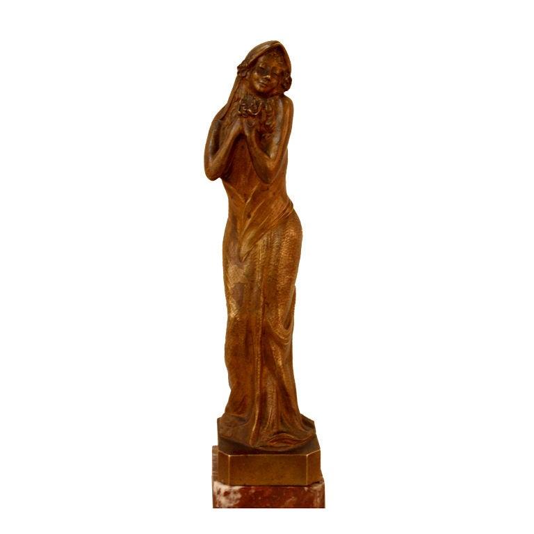 French Art Nouveau Bronze Sculpture