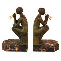 Bronze Art Deco Book Ends