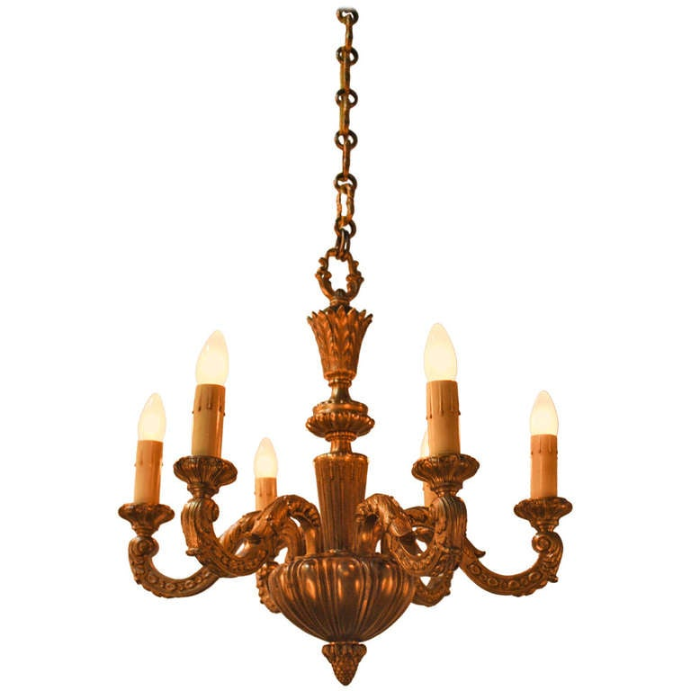 French Bronze Chandelier At 1stdibs