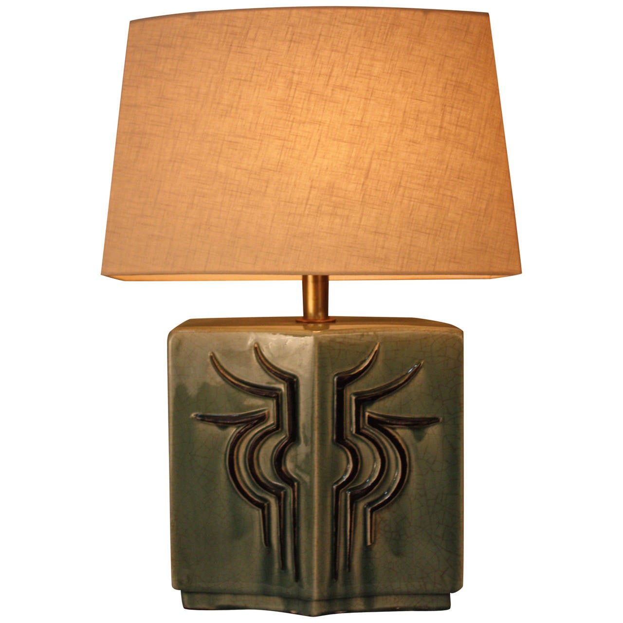 this mid century french pottery table lamp is no longer available. Black Bedroom Furniture Sets. Home Design Ideas