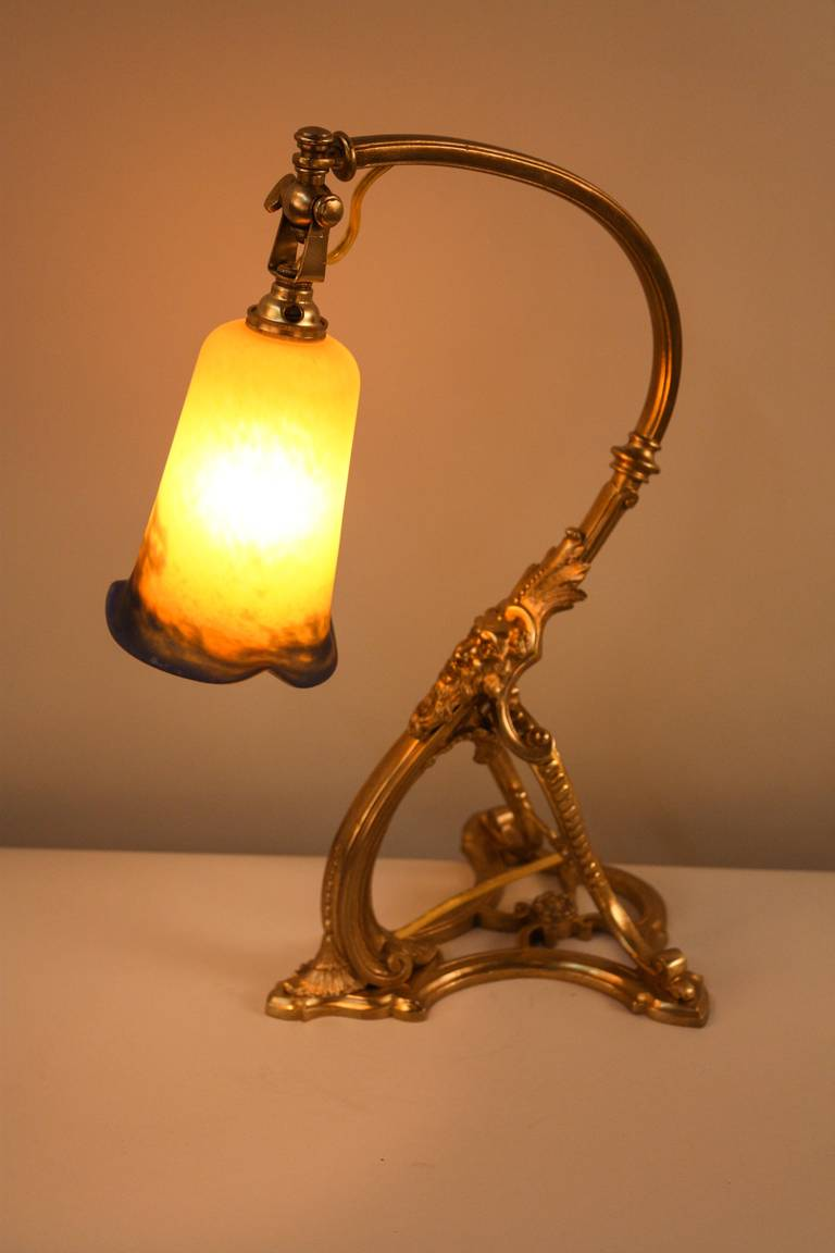 1920s French Bronze Desk Lamp By Noverdy At 1stdibs