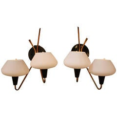Mid-Century Italian Wall Sconces by Stilnovo
