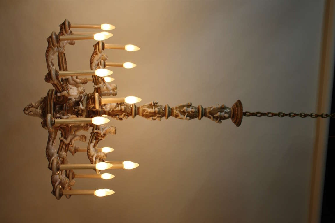 1950s italian porcelain chandelier for sale at 1stdibs 1950s italian porcelain chandelier in good condition for sale in washington dc arubaitofo Gallery