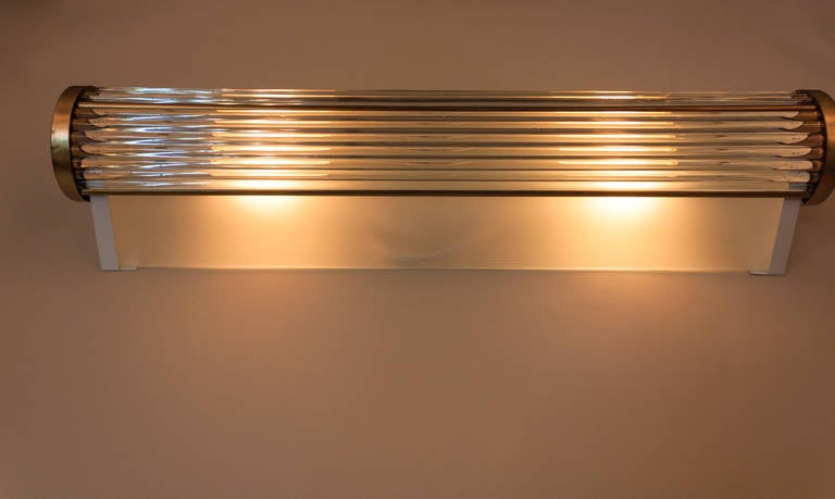 Long Glass Wall Sconce by Atelier Petitot at 1stdibs