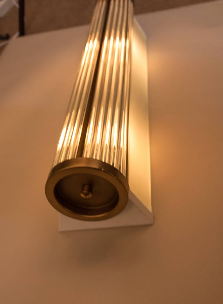 Wall Lights Long : Long Glass Wall Sconce by Atelier Petitot at 1stdibs