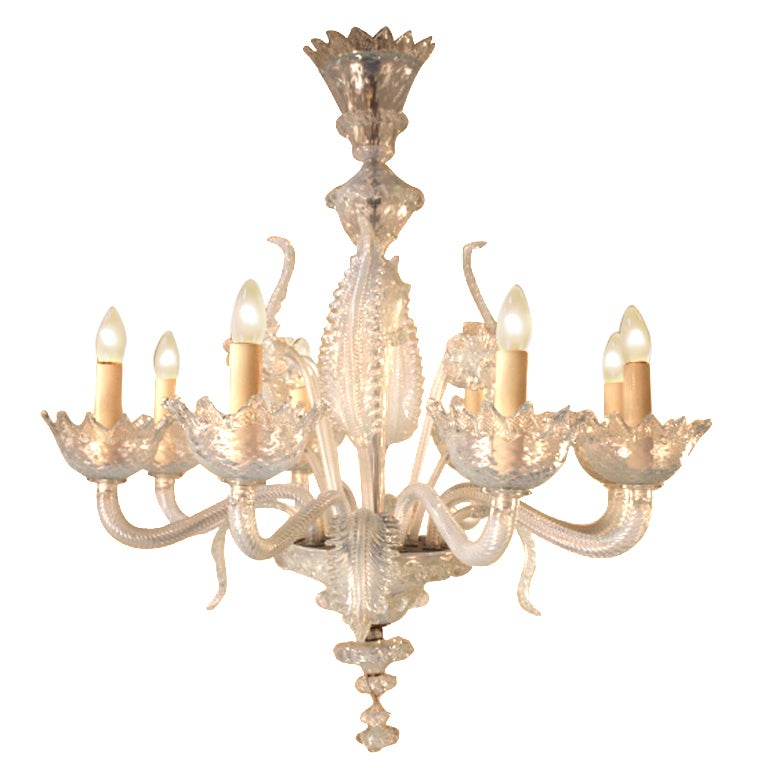 Opalina Venetian Chandelier At 1stdibs