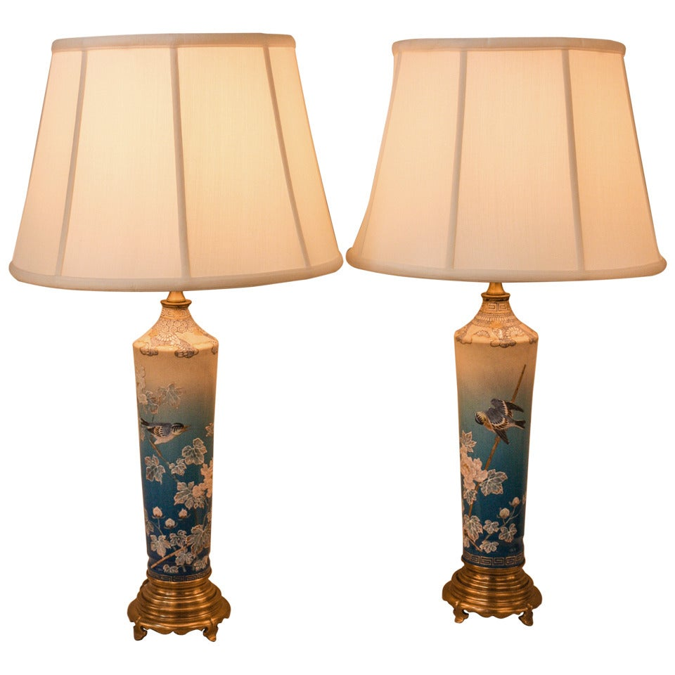 Pair Of Japanese Table Lamps At 1stdibs