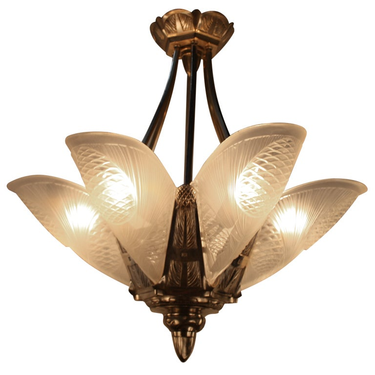 French Art Deco Chandelier At 1stdibs