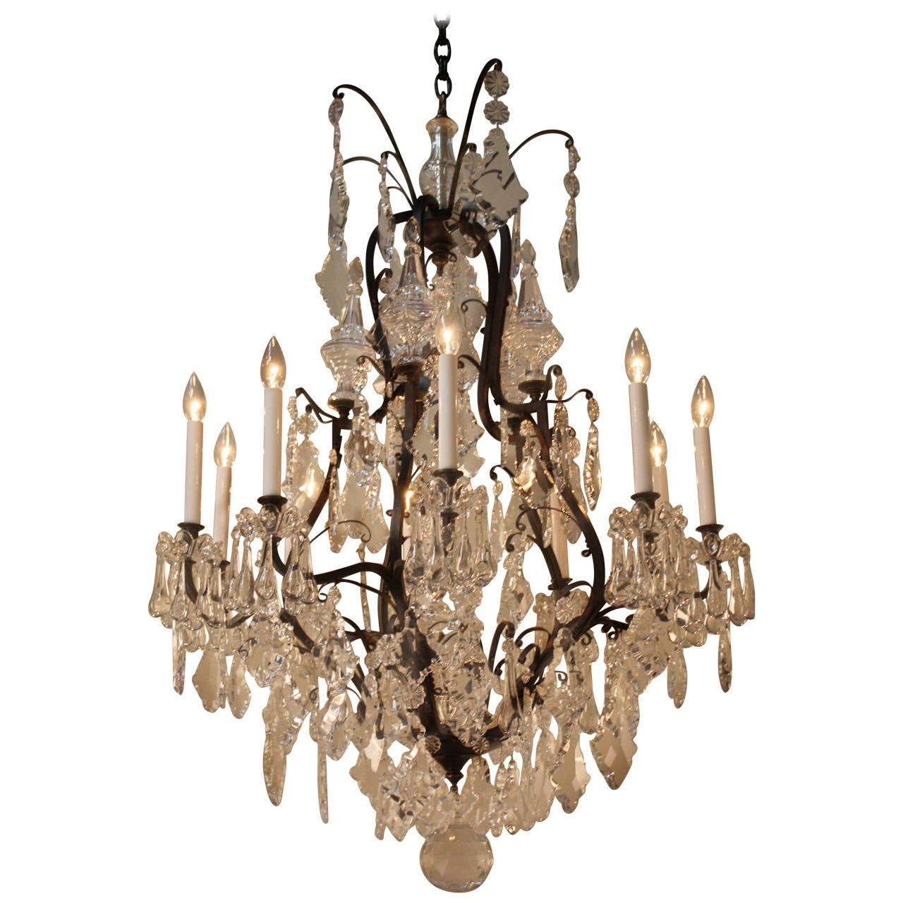 Elegant crystal chandelier at 1stdibs elegant crystal chandelier 1 arubaitofo Choice Image