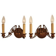 Electrified French Piano Sconces