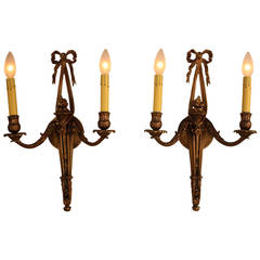 French Bronze Wall Sconces