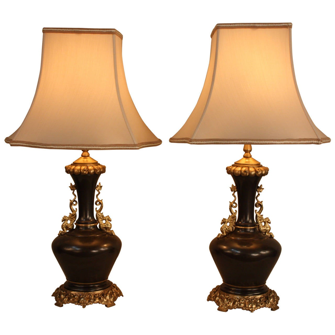 French 19th Century Bronze Table Lamps At 1stdibs