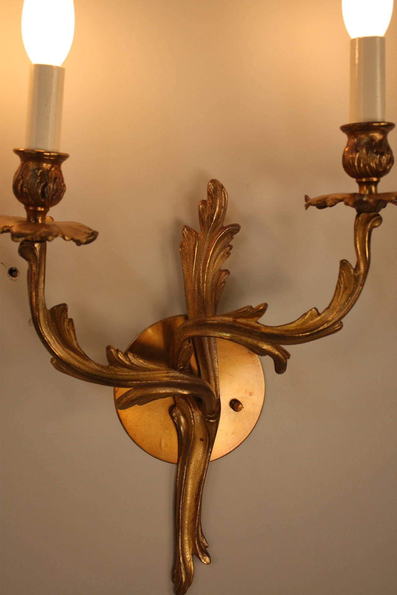 Pair Of 1930s Art Nouveau Wall Sconces At 1stdibs