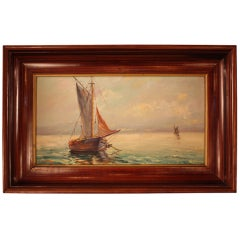 Sailing Boats on the Sea Oil Painting