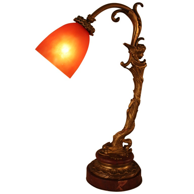 French Art Nouveau Table Lamp At 1stdibs