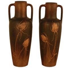 Pair Of Art Nouveau Vases By Clement Massier