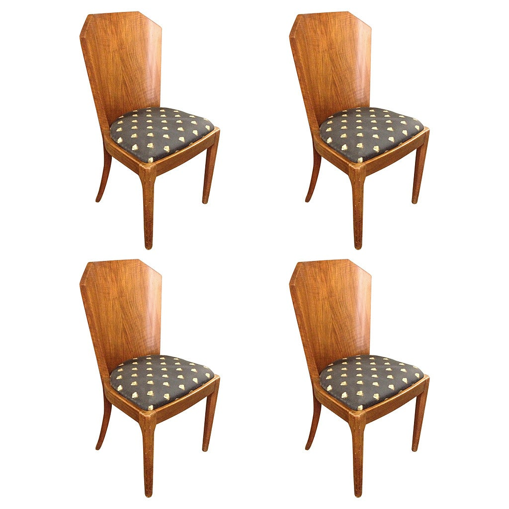 4 art deco dining room chairs at 1stdibs