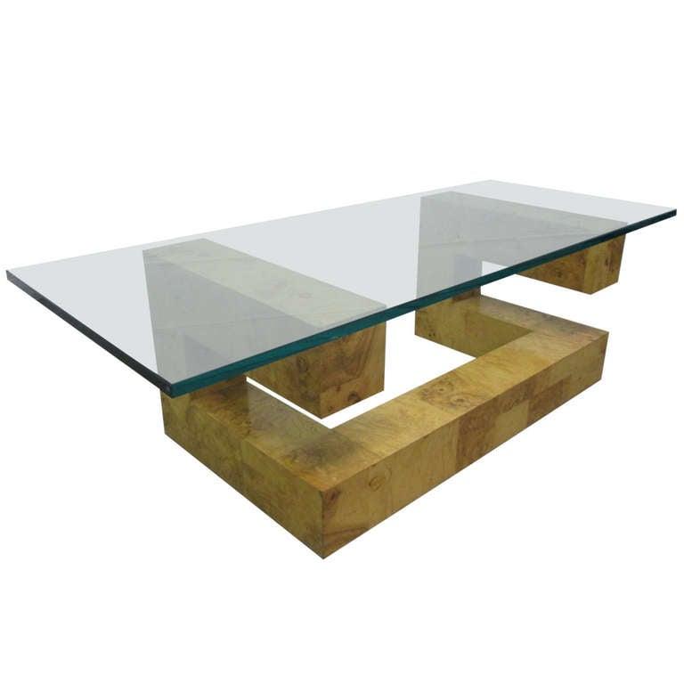 Paul Evans Burl Wood Coffee Table At 1stdibs