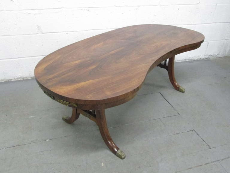 French Antique Rosewood Kidney Shaped Coffee Table At 1stdibs