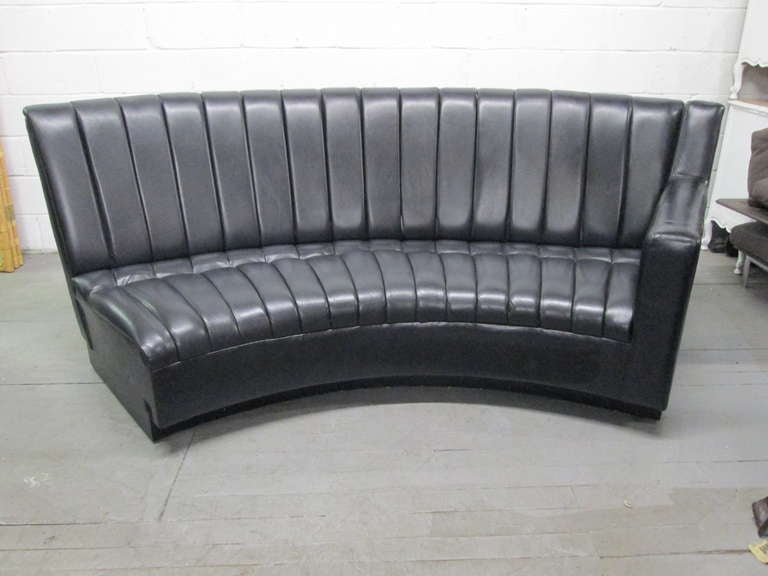 Leather Sectional Sofa, De Sede Style In Good Condition For Sale In New York, NY