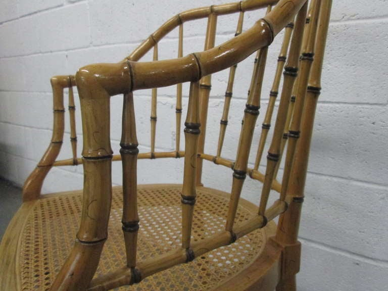 Pair of Faux Bamboo Chairs For Sale 1