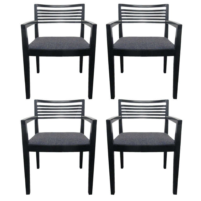 Four Joe And Linda Ricchio For Knoll Arm Chairs At 1stdibs