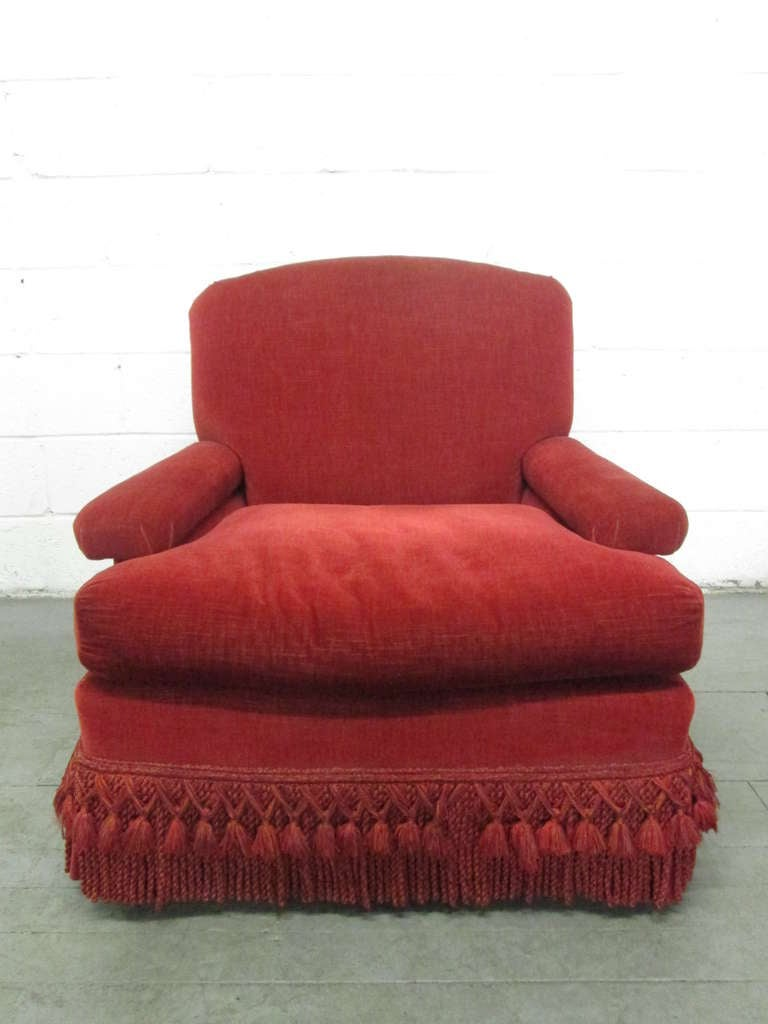 Pair of French Art Deco Club Chairs with Mohair Upholstery 3