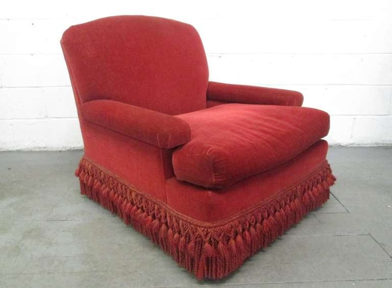 Pair of French Art Deco Club Chairs with Mohair Upholstery 2