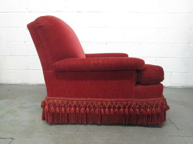 Mid-20th Century Pair of French Art Deco Club Chairs with Mohair Upholstery For Sale