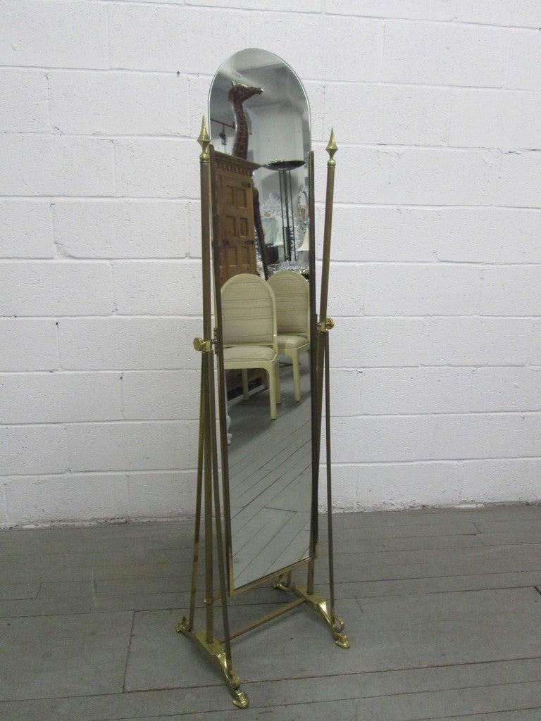 Art Deco Brass Cheval Mirror At 1stdibs