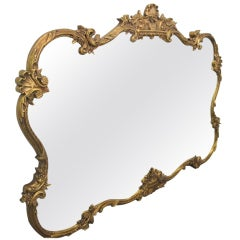 Large Antique Style Decorative Gold Mirror