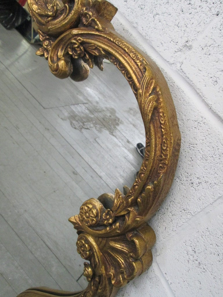 Large antique style decorative gold mirror for sale at 1stdibs for Mirrors for sale