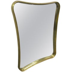 Biomorphic Gold Leaf Mirror
